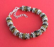 NEW! Tigers Eye Gemstone Handmade Bead Unique Women's Bracelet - Aussie Seller!!