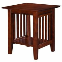 Atlantic Furniture Mission End Table in Walnut