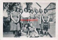 Foto, BDM, Maiden, Mädchen, Arbeitsdienst, Mädchen mit Zöpfen, 10