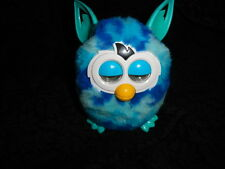 Furby Boom Blue Waves Turquoise White Talking Working Hasbro Interactive