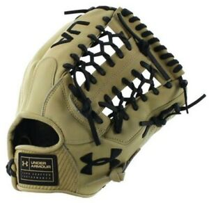 """Under Armour Baseball Flawless 11.75"""" Infield Pitcher Glove Mitt (Cream RHT)"""