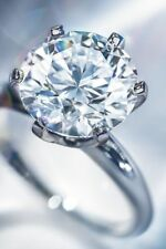 Solitaire Engagement Ring (Size 9) Women's 1 Ct.  Brilliant Cut