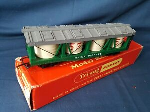 """TRIANG HORNBY R.1390 CANADIAN ISSUE """"H.J.HEINZ"""" PICKLE CAR EXC BOXED"""