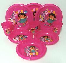 Dora Plates, Bowls and Cups 3pk set