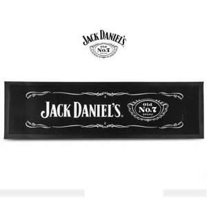 Jack Daniels OLD No.7 Logo Rubber Backed Bar Runner Mat Man Cave Gift - 89x25cm