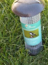 New listing Pet Trends Cage Deluxe Bird Nut Feeder ~ Metal Top And Hanging Hoop (Po-51)