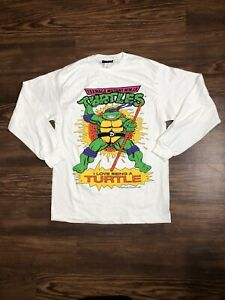 Ninja Turtles Vintage 1990 Mirage Studios T Shirt Adult Medium 18x30.5 Fits L