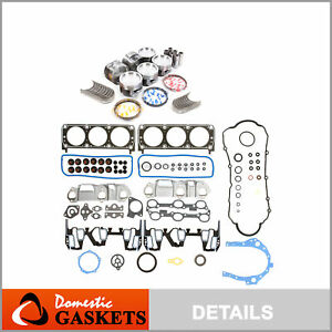 99-03 Dodge Durango Dakota Ram Jeep 4.7L Full Gasket Piston&Bearing&Ring Set