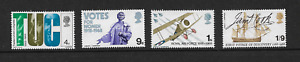 GB 1968 - British Anniversaries - Complete Set - MNH.