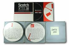 """Vintage 7"""" Reel to Reel Tape Lot of Four (4) Used Tapes and Three (3) Hard Cases"""