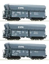 Roco 76092 H0 3er-set Selbstentladewagen der Vtg