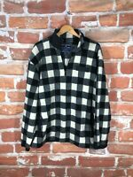 New Polo Ralph Lauren XL Buffalo Plaid Southwestern RRL Hunting 1/4 Zip Sweater