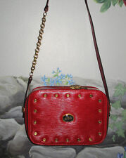 Rare CZAREVIC MOCKBA Aben's Professional Italy Red Leather Shoulder Bag Handbag