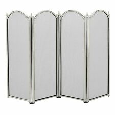Manor 1230 Dynasty 4 Fold Fire Screen Guard Protector Fireplace Fireguard Pewter