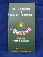 Horse racing - Race Card - Sandown - 25th September 1985 - Jockey team challenge