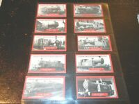 1986 John M. Brindley  Britain trains locomotive complete trade  card set 30 lot