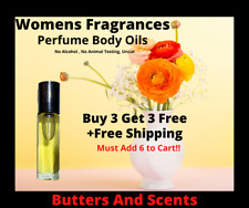 Perfume Body Oils For Women-Pick Your Fragrance-No Alcohol-Uncut 1/3oz Roll On