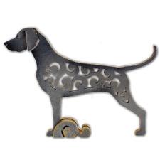 Weimaraner dog figurine, dog statue made of wood (MDF), hand-paint