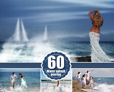 60 type of water photo Overlays, splatter, Photoshop overlay, png files