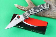 EDC Spyderco Camouflage Folding Knife C81 CPM-S30V Outdoor tools OEM