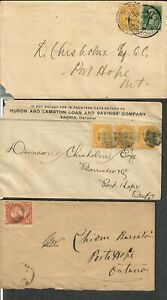 Canada Lot Of 3 Covers Small+Large Queens