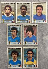 7 ORIGINAL 1978 PANINI ARGENTINA 78 UNUSED FRANCE STICKERS ARG-914 World Cup