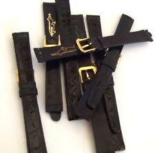 cinturino vero coccodrillo lucido orologi da polso lusso lady ansa 12 mm nero