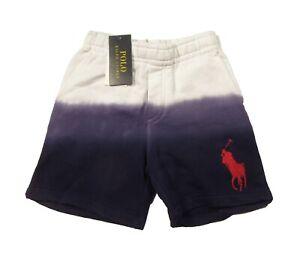 Polo Ralph Lauren Boys White Big Pony Tie Dye Terry Shorts