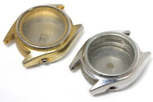 Two stainless steel Citizen lady watch cases to restore                   -14838