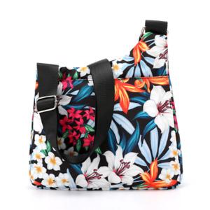 Women Shoulder Messenger Multiple Pockets Nylon Fashion bag Casual Print Handbag