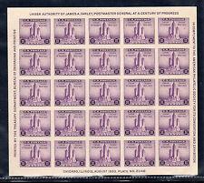 US # 731 (1933) 3c - MNGAI - VF - Chicago {Century of Progress} Souvenir Sheet