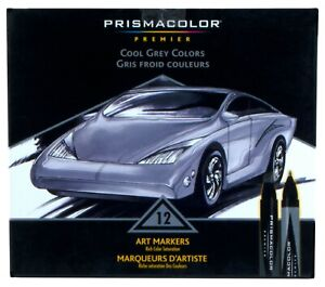 Prismacolor Premier Double Ended Art Markers Cool Grey Colors Set