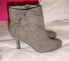 Atmosphere Zip Stiletto Women's Faux Suede Shoes