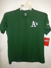 0220 Boys Youth OAKLAND A'S ATHLETICS Pullover Baseball JERSEY New GREEN