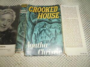 Crooked House. Agatha Christie. 1st UK edition. Hardcover, dust jacket 1949.