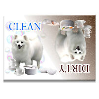 AMERICAN ESKIMO DOG Clean Dirty DISHWASHER MAGNET New