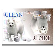 AMERICAN ESKIMO DOG Clean Dirty DISHWASHER MAGNET New