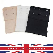 Mixed 3x Bra Extender 3 Hooks Ladies Bra Extension Strap Underwear Strapless UK