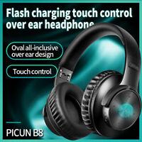 Smart Touch Bluetooth 5.0 Headphones Wireless Stereo Earphone Super Bass Headset