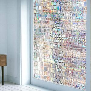 3D Rainbow Window Glass Film Sticker Stained Anti UV Self-adhesive Decorative