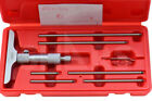 SHARS 0-6' DEPTH MICROMETER 4.0' BASE ROUND HEAD MEASURING RODS NEW P}