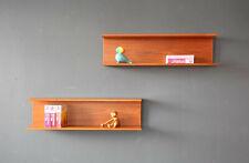 1(2) Vintage 60er Teak Wandregal Wandboard Danish Mid-Century 60s Wall Shelf