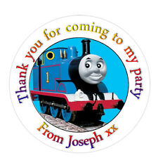 Personalised Thomas Tank inspired birthday Labels Stickers Party bag cones