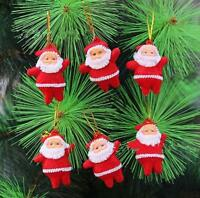 6Pcs Christmas Red Santa Xmas Tree Hanging Decorations