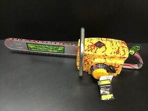 GEMMY YELLOW Leatherface BLOODY Chainsaw Animated Halloween Prop