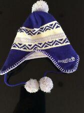 Regatta, Girls Purple and Cream Bobble Hat with fleece lining, Age 11-13 years.