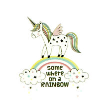 Rainbow Unicorn Iron-on Patches Transfers Stickers for Diy Clothes Appliqued-*