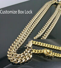"10K Yellow Gold Men's 6mm Miami Cuban Chain With Box Lock 22"" inch long"