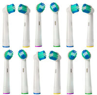 16 Replacement Toothbrush heads - Compatible with Oral B and Braun