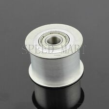 Smooth Idler Pulley With bore 10mm Bearing width 21mm HTD3M HTD5M Timing belt